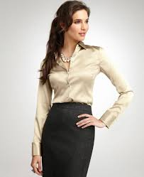 business blouses for a business casual office keep jewelry minimal follow