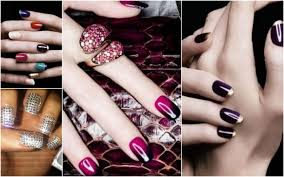 trendy nail art manicure deigns nails with golden designs 7