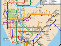 Subway Nyc Map Download Map Of Subway Nyc Major Tourist Attractions Maps