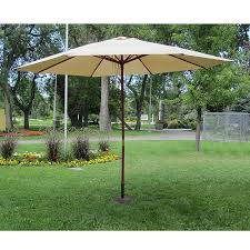 Overstock Patio Umbrella Khaki Wood 13 Ft Patio Outdoor Umbrella Free Shipping Today