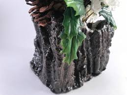 tree stump planters driftwood sculptured christmas planter