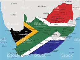Political Map Africa by South Africa Highly Detailed Political Map With National Flag