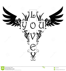 tattoo pictures download love you tattoo stock vector illustration of symbol 15562599
