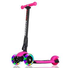 3 wheel scooter allek lean to steer deluxe 3 flashing up wheel