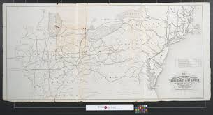 Map Of Cincinnati Map Of The Ohio And Mississippi Railroad Connecting The Cities Of