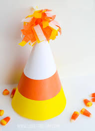 kids halloween party ideas candy corn party hats