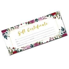 flower gift certificate floral blank gift certificate gift