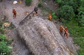 arrows amazon black friday pictures show amazon tribe untouched by civilization stare in