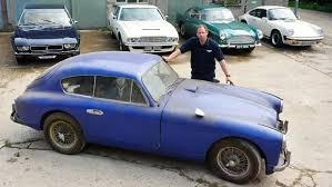rare aston martin barn find rare 1955 aston martin found in storage after 50 years