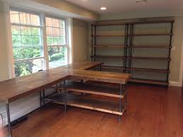Basement Wood Shelves Plans by Best 25 Pipe Desk Ideas On Pinterest Industrial Pipe Desk Diy