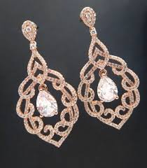 teardrop chandelier earrings bridal earrings gold wedding earrings gold