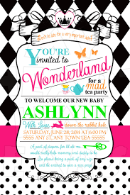 alice in wonderland baby shower ideas themes invitations cakes