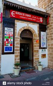 bureau change bureau de change currency exchange medina essaouira stock