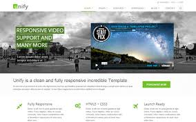 unify responsive website template web app themes pinterest