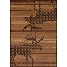 Moose Area Rugs Toffee Moose Area Rugs