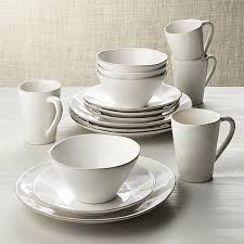 marin white 16 dinnerware set crate and barrel