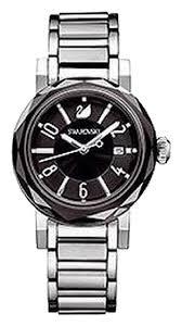 swarovski crystal bracelet watches images Swarovski jet crystal octea lady stainless steel bracelet watch jpg
