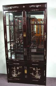 Lighted Display Cabinet Curio Cabinet French Curio Cabinet Suppliers And Bamboo Corner