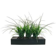 laura ashley green grass in contemporary wood planter vha100353