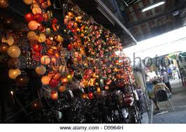 bangkok home decor shopping fancy light decorated in a home decor shop at chatuchak weekend
