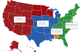 Nfl Usa Map by Regional Managers Youth Middle High Schoolfootball Usa Football