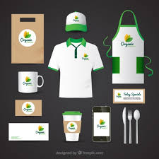 identity corporate for organic food restaurant vector free