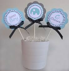 Baby Shower Centerpieces Boy by Elephant Centerpiece Sticks Baby Shower Decorations Gray And