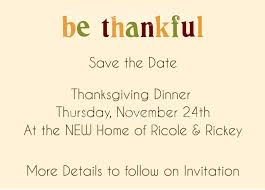 s place thanksgiving dinner invitations