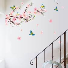 aliexpress com buy removable peach blossom flowers wall stickers