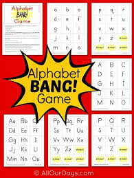 printable alphabet recognition games free alphabet bang game printable free printable bangs and