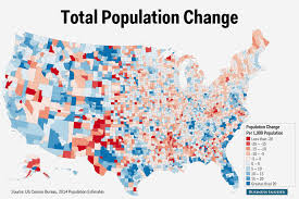Counties In Texas Map Us Census County Population Change Map Business Insider