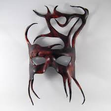 leather masquerade masks woodland tree leather mask by shadows ink deviantart on