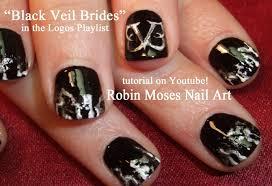 black veil brides nail art tutorial youtube