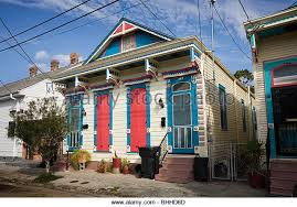 new orleans colorful houses shotgun house stock photos shotgun house stock images alamy