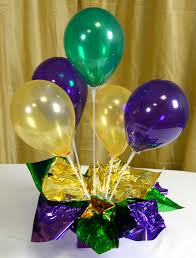 balloon centerpiece party ideas by mardi gras outlet air filled balloon centerpieces