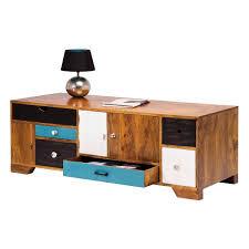 Schreibtisch Mit Schubladen Lowboard Babalou Mit 6 Schubladen In Braun Bunt