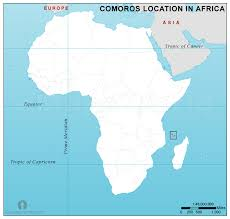 map comoros comoros location map in africa comoros location in africa