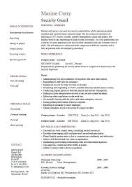 security officer resume sample objective police template free