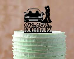 car wedding cake toppers car wedding topper etsy
