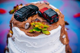 jeep cake adventures on the gorge tropical pool party wedding shanie