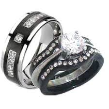 black wedding rings his and hers his and hers wedding ring sets