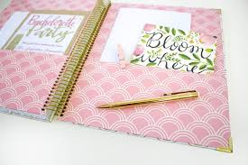 wedding planning notebook wedding planner gold scallops bloom daily planners