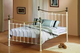White Double Metal Bed Frame Metal Bed Frame