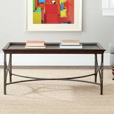 safavieh christopher antique pewter coffee table amh6513a the