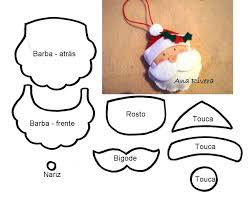 pattern for santa and reindeer ornaments made from felt blog is