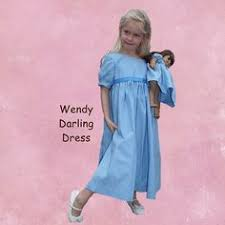 upcycled peter pan costume wendy darling costume light blue