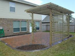 Cheap Backyard Ideas Terrace Awesome Patio Brick Patterns Ideas With Grass Spread For