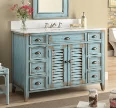 Rustic Bathroom Vanities Cottage Look Abbeville White Undermount Porcelain Sink Rustic
