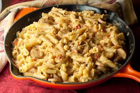 Pasta Sausage Cheesy Chicken Sausage Pasta Skillet Wishes And Dishes
