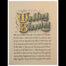 custom wedding blessings card